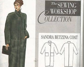 The Sewing Workshop Collection Pattern - SANDRA BETZINA Coat - Size Small to XL