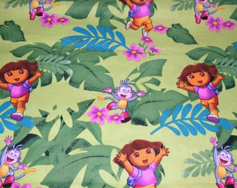 BTY DORA JUNGLE Fun Print 100% Cotton Quilt Craft Fabric by the Yard