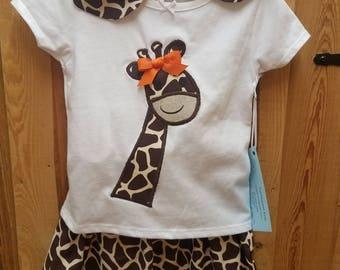 Giraffe 3 Piece Girls set