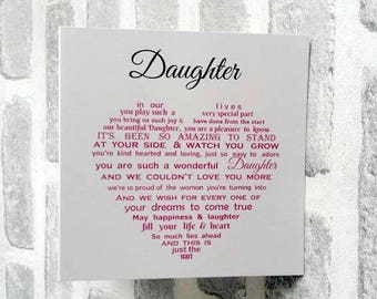 Daughter Card, Card for Daughter from Mum, Card from Mum and Dad, Father Daughter Card, Mother Daughter card