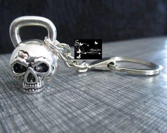 KB WARRIOR skull kettlebell keychain!