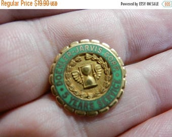 Summer Sale Vintage Gold Filled 5 Years Service Pin