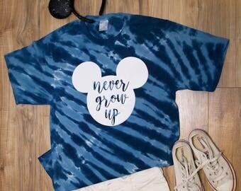 Never grow up disney shirt