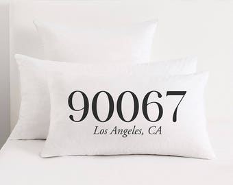 Personalized zip etsy personalized zip code pillow area code bedroom decor housewarming gift moving gift negle Image collections