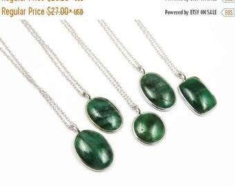 21% DISCOUNT SALE Genuine Emerald Necklace, Emerald Necklace, Emerald Pendant Necklace, Green Gemstone Necklace, May Birthstone, Emerald Gre