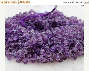 71% SALE Amethyst Beads FULL Strand Natural 13 inches length side drill drop Approx 5-11 mm pomegranate seed QB-2