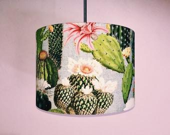 Cactus Ceiling Lamp Shade - 30 cm Drum - Handmade