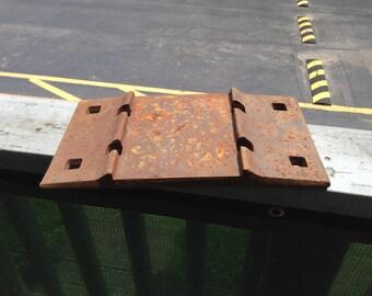 Vintage Railroad Tie Plates, Train Track Steel Plates