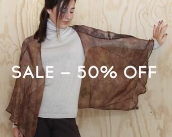 SHAWL 100% silk ORGANZA