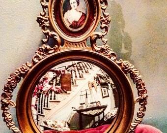 Vintage Cameo Creations Convex Mirror