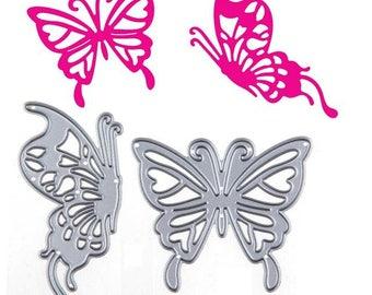 2 die Butterfly motif, die cutting metal scrapbooking