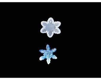 Silicone mold for creations 58mm snowflake resin polymer clay