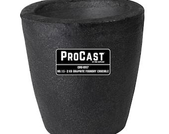 ProCast™ Premium Black No. 1.5 - 2 Kg Foundry Crucible Gold Precious Metal Casting Refining - CRU-0117