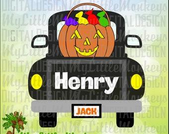 Truck SVG ~ Jack-O-Lantern SVG ~ Pick-up Truck svg ~ Kids svg ~ Halloween svg ~ Pumpkin ~ Commercial Use SVG ~ Clipart, Cut File eps dxf png