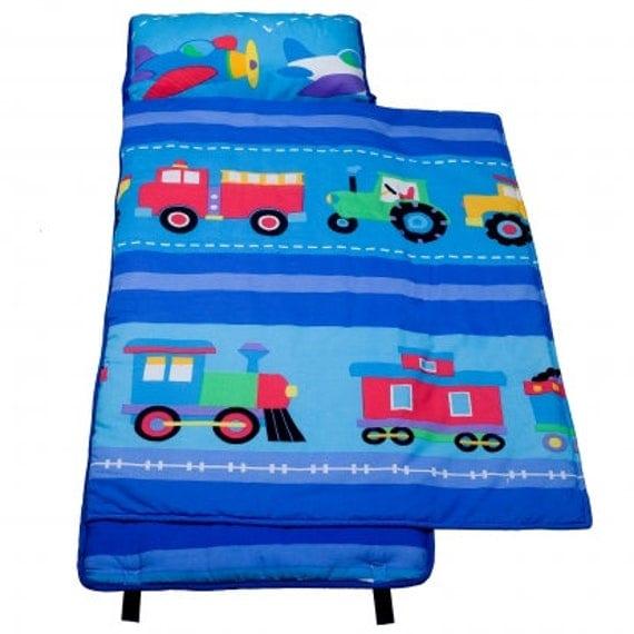 Trains Planes Trucks Rest Nap Mat Roll 100 Cotton With