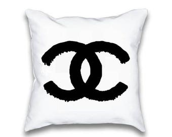 Chanel Pillow Case - Chanel Logo Throw Pillow Set - Chanel Pillowcase, Throwpillow, Perfect Gift