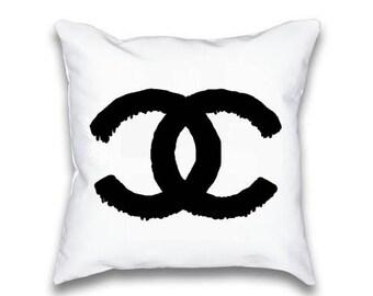 Chanel Pillow Case - Chanel Logo Throw Pillow Set - Chanel Pillowcase, Throwpillow, Perfect Gift