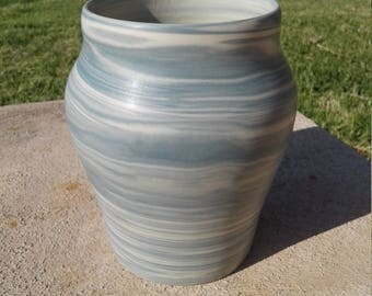 Agateware pottery - vase