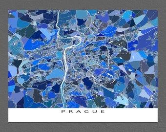 Prague Poster, Prague Czech Republic Map Print, Praha, Art Map Gift