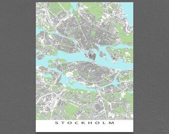 Stockholm, Sweden, Stockholm Map Art, Stockholm Print, City Maps
