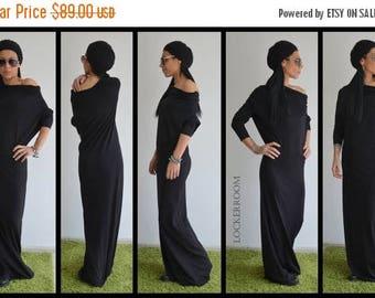 ON SALE Black Long Dress /Woman black dress /  Black Oversize dress/ Casual black dress / Daywear dress