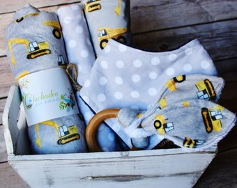 Baby Boy Gift Basket - Construction Baby Nursery