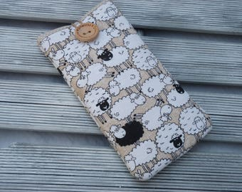 iPhone SE sleeve, Sheep Pouch, iPhone 7 case, iPhone 6s pouch, iPhone 5 sleeve, iPod Touch Sleeve, iPhone 7 Plus case, Padded i phone case