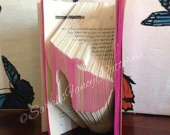 Summer Sale Platform Stiletto Shoe - Book Folding Pattern