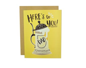 Here's To You Dad | Father's Day Card | Dad's Birthday Card | Folk and Fauna Co.