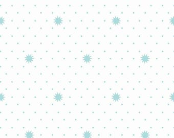 Lula Magnolia Night in White by the Quilted Fish for Riley Blake by the HALF yard, C3777-White