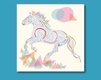 Arty Horse Birthday Card