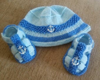 Baby Knitting Patterns 'Billie Sunhat and Sandals' size 3-6mths