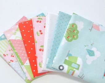 SALE!! Fat Quarter Bundle Glamper-licious by Samantha Walker for Riley Blake Designs - 7 Fabrics