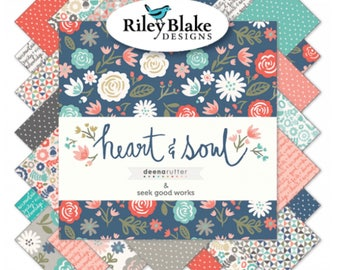 "5"" Stacker Heart and Soul by Deena Rutter and Seek Good Works for Riley Blake Designs - 42 Fabrics"