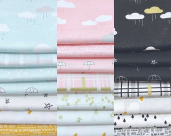SALE!! 1/2 Yard Bundle When Skies are Grey by Simple Simon and Co. for Riley Blake Designs - 3 Color Options