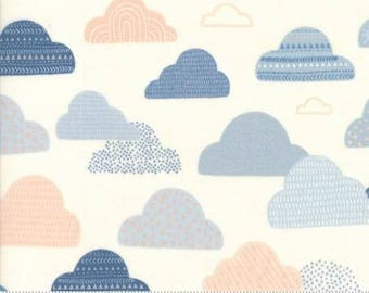 1 Yard Wild and Free by Abi Hall for Moda- 35313-11 Cloud