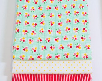 1/2 Yard Bundle Backyard Roses by Nadra Ridgeway for Riley Blake Designs - 3 Fabrics