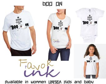 Keep calm and boo on t-shirt/my first Halloween/family matching Halloween shirts/daddy and son/ mom and son/ Mommy and me