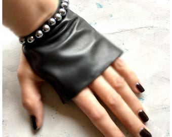 Car driving gloves-Black Leather Gloves-Leather-Black leather-gift for her-Gloves-car glove-fingerless gloves-mittens-Girlfriend gift-Black