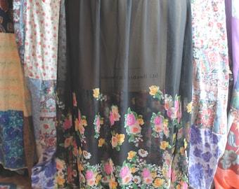 Long see thru floral skirt ref 603