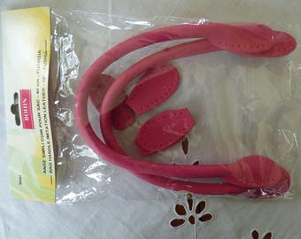 Faux leather bag 40cm fuchsia ref 98491 pins handle