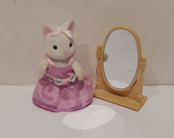Vintage Calico Critter Katie Kitty Ballerina CC 2121 Retired  3 pieces RARE