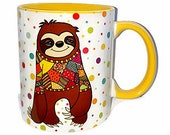Colorful mug, funny mug, animal lover mug, sublimation on mug, original mug, colorful animal