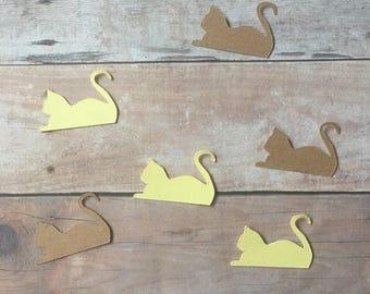 Laying Cat & Vinyl Stickers