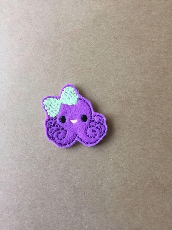 Octopus Feltie, Octopus Embellishment. Choose 1, 2 or 4