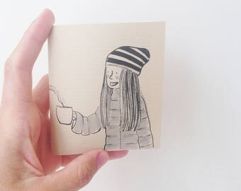 small notebook created and drawn by hand