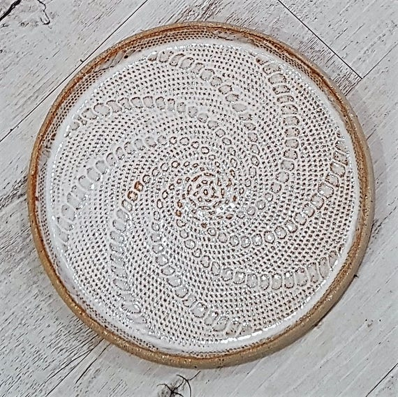 Rustic Lace Inlay Plate