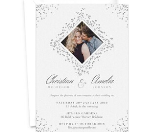 Wedding Photo Invitation / Elopement Announcement Card / We Eloped / Engagement Party Invitation /  Rehearsal Dinner Invite