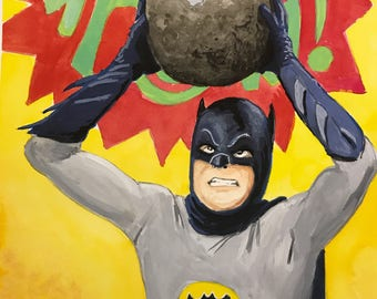 Adam West Batman 66' Print