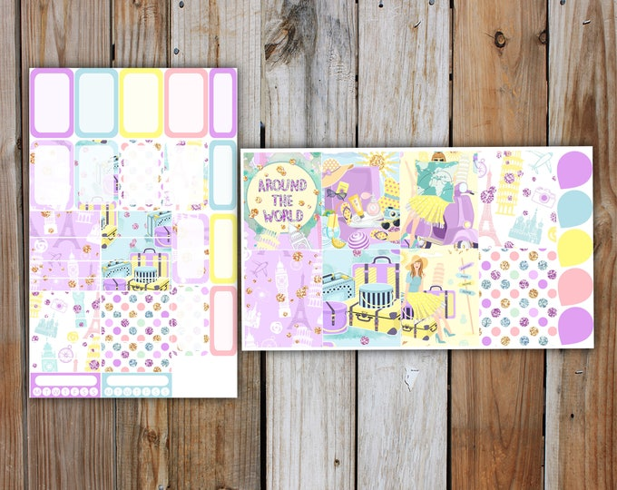 Summer Holiday Planner Sticker DELUXE KIT (7 Pages) | Summer Planner Stickers Kit for use with Erin Condren Life Planner